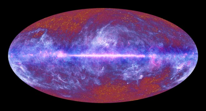 The microwave sky as seen by the European Space Agency's Planck satellite