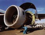 [A Rolls-Royce Trent 800 aircraft engine]